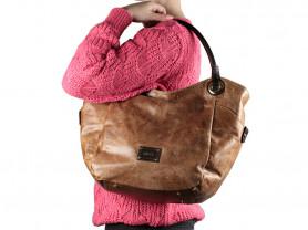 Новая большая кожаная сумка Gaude Италия