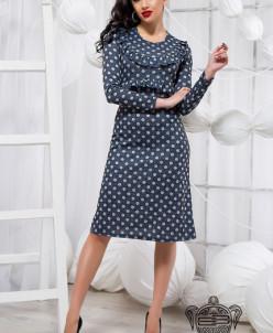 Стильное платье в горох - 18970