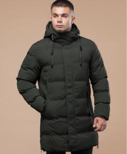Темно-зеленая молодежная удобная куртка модель 25040
