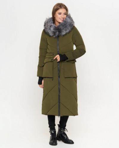 Женская куртка цвета хаки оригинальная модель 1808