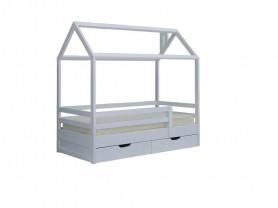Кровать-домик, массив сосны