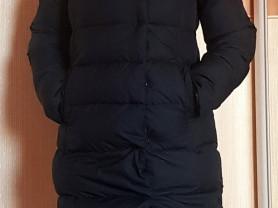 Зимняя удлиненная куртка пуховик 44