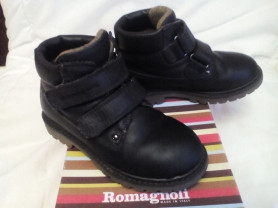 Демисезон кожа ботинки Romagnoli 27-17,5 см Италия