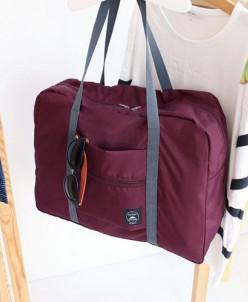 Складная сумка для путешествий Бордовая
