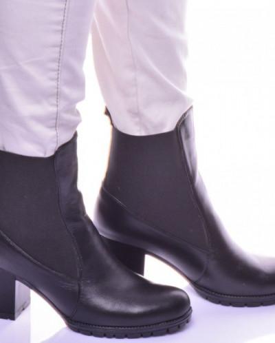 Женские кожаные ботинки на каблуке (байка/экомех/цигейка)