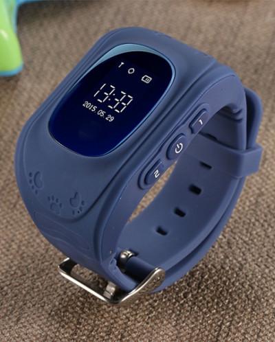 Детские часы GPS трекер Smart Baby Watch Q50, синие
