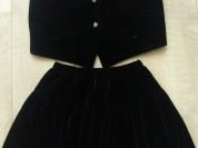 Школьный костюм (жилет и юбка)
