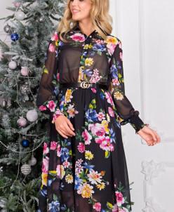 Платье Рафаэлла черная П-208-1