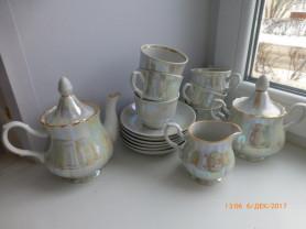 Сервиз чайный на 6 персон (15 предметов), новый