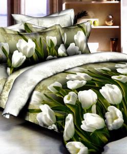 Полисатин Prm. тюльпаны белые