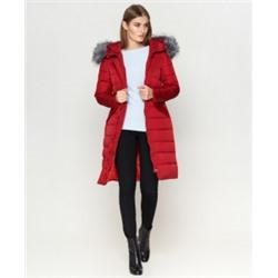 Бордовая куртка женская брендовая модель 8606