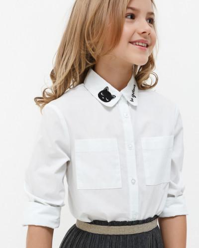 Блузка детская для девочек Clover белый