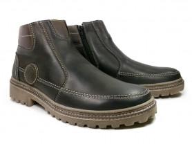 Зимние ботинки с двойной прошивкой