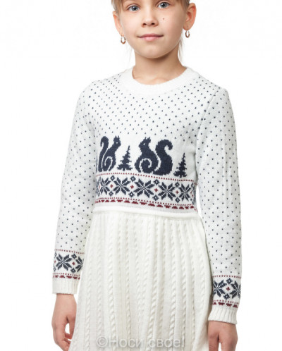 9204 Платье для дев. (бело-синий)
