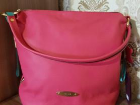 Новая кожаная сумка Италия розовая