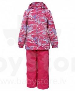 Комплект для девочек YONNE 1, фуксиа с принтом/фуксиа 71163