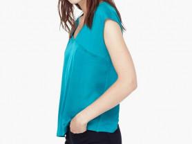 Футболка MANGO цвет зеленый бильярдного сукна р М