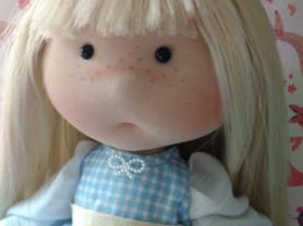 Текстильная кукла ручной работы 29 см