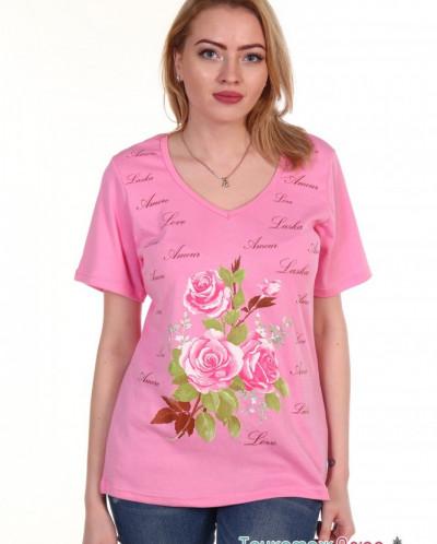 Блузка женская м-296 Розочка (интерлок)