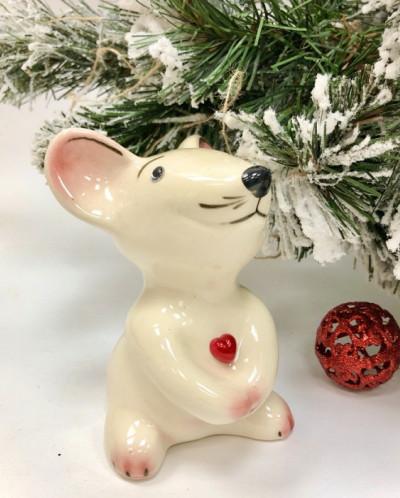 Фигурка мышки 12см из керамики