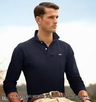 Поло с длинным  рукавом мужское Lacoste