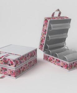 Чемоданчик для хранения обуви на 6 пар, 35х40х20см