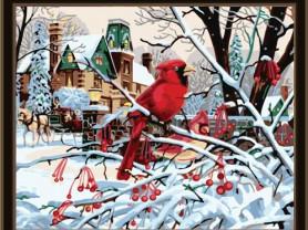 Картины по номерам GX 6189 Зимний красавец