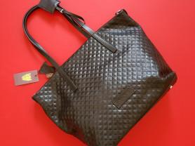Новая кожаная черная сумка Италия формат А4
