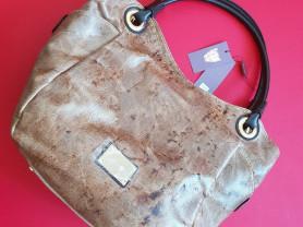 Новая большая стильная кожаная сумка Италия