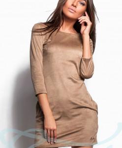 Красивое замшевое платье