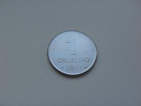 Монета 1 Крузейро 1981 год Бразилия