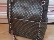 Новая кожаная сумка на цепочке Италия