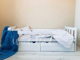 Детская кровать с бортиками, Solo White II