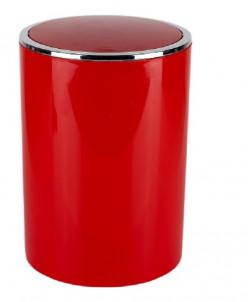 LENOX (красный) Урна с вращающейся крышкой на 6л, пластик
