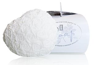 Увлажняющее мыло (белое) Сувенирное мыло с маслом жожоба