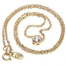 Ожерелье-цепочка с цирконием