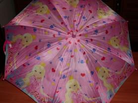 Зонт детский розовый Barbie диам. раскрытого 75 см