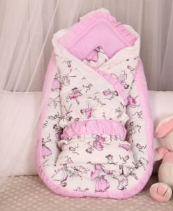 Комплект (гнездышко+одеяло), Балеринки