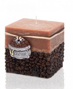 свеча кофе Блок 95х95х90