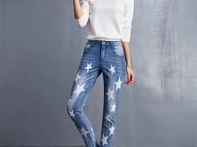 Новые джинсы со звездами (с этикетками), р-р 48