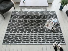 Черный ковёр с рисунком Geoline 150 x 200 см