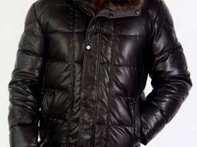 Куртка мужская новая с енотом, 54 р-р