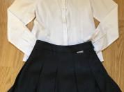 Школьная форма (юбка + блузка) р. 128.