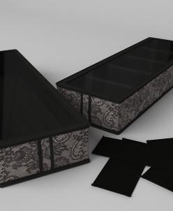 Короб для обуви, на 5 ячеек 26х78х12 см