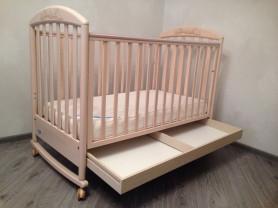 Детская кроватка-качалка Pali Zoo(Италия) + матрас
