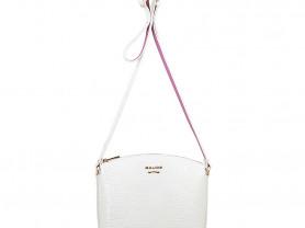 Новая лакированная кожаная сумка Gaude белая