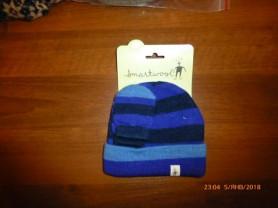 шапка+варежки SmartWool на 12-18мес., нов