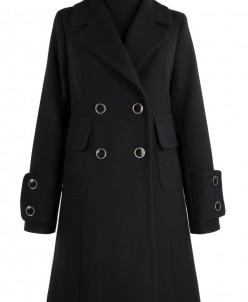 Пальто женское демисезонное Кашемир Черный
