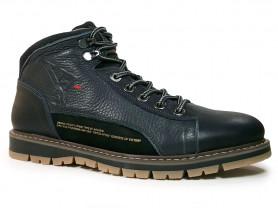 Зимние ботинки темно синие