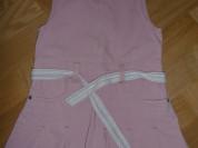 Джинсовый сарафан - розовый
